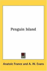 Ile des pingouins by Anatole France