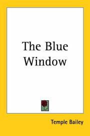 Cover of: The Blue Window | Temple Bailey