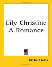 Cover of: Lily Christine a Romance