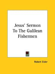 Cover of: Jesus' Sermon to the Galilean Fishermen