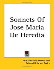 Cover of: Sonnets of Jose Maria De Heredia