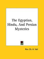 Cover of: The Egyptian, Hindu, and Persian Mysteries