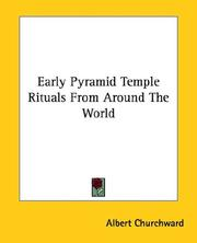 Cover of: Early Pyramid Temple Rituals from Around the World