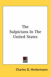 Cover of: The Sulpicians In The United States