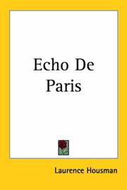 Cover of: Echo De Paris