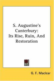 Cover of: S. Augustine