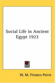 Cover of: Social Life in Ancient Egypt 1923