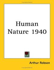 Cover of: Human Nature 1940