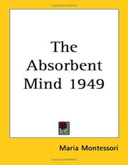 Cover of: The Absorbent Mind 1949