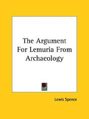 Cover of: The Argument for Lemuria from Archaeology