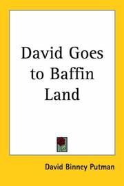 Cover of: David Goes to Baffin Land | David Binney Putman