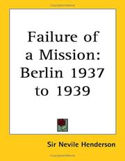 Cover of: Failure of a Mission