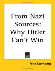 Cover of: From Nazi sources