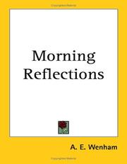 Cover of: Morning Reflections | A. E. Wenham