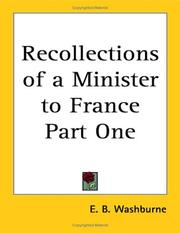 Cover of: Recollections of a Minister to France