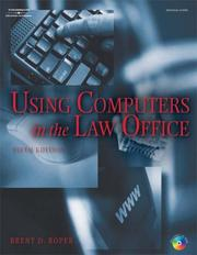 Cover of: Using Computers in the Law Office