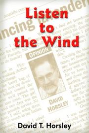 Cover of: Listen to the Wind | David T. Horsley