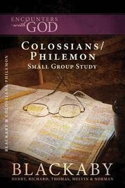 Cover of: Colossians/Philemon | Richard, Thomas, Melvin, and Norman Blackaby Henry