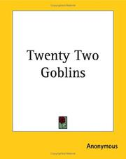 Cover of: Twenty Two Goblins | Anonymous