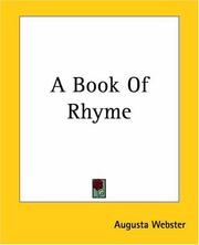 Cover of: A Book Of Rhyme