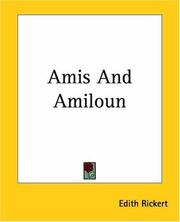 Cover of: Amis And Amiloun