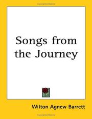 Cover of: Songs from the Journey | Wilton Agnew Barrett