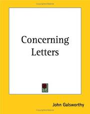 Cover of: Concerning Letters