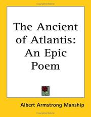 Cover of: The Ancient of Atlantis | Albert Armstrong Manship