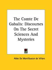 Cover of: The Comte De Gabalis | Abbe De Villars