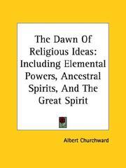 Cover of: The Dawn of Religious Ideas