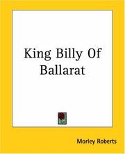 Cover of: King Billy Of Ballarat