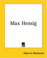 Cover of: Max Hensig