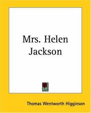 Cover of: Mrs. Helen Jackson | Thomas Wentworth Higginson