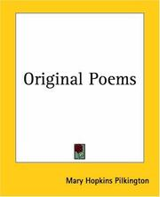 Cover of: Original Poems | Mary Hopkins Pilkington