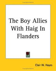 Cover of: The Boy Allies With Haig In Flanders | Clair W. Hayes