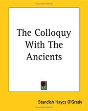 Cover of: The Colloquy With The Ancients