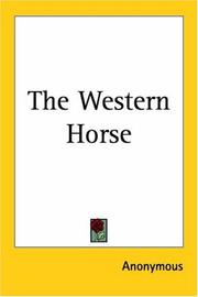 Cover of: The Western Horse | Anonymous