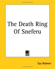Cover of: The Death Ring Of Sneferu