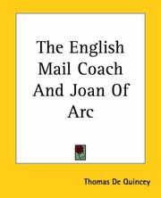 Cover of: The English Mail-Coach and Joan of Arc