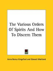 The Various Orders of Spirits and How to Discern Them