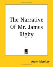 Cover of: The Narrative of Mr. James Rigby