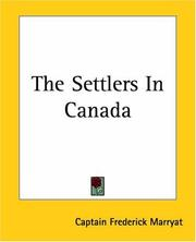 Cover of: The settlers in Canada: written for young people