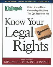 Cover of: Know Your Legal Rights     (Know Your Legal Rights)