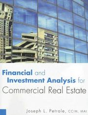 Cover of: Financial and Investment Analysis for Commercial Real Estate