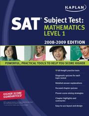 Cover of: Kaplan SAT Subject Test