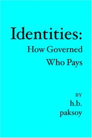 Cover of: IDENTITIES | H.B. Paksoy
