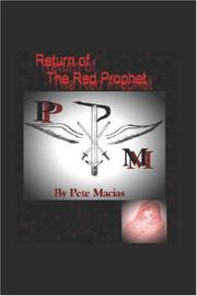 Cover of: Return of The Red Prophet