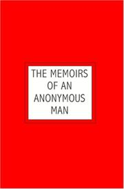 Cover of: The Memoirs of an Anonymous Man | no author name on cover)