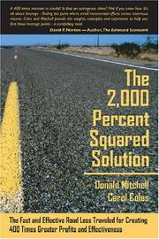 Cover of: The 2,000 Percent Squared Solution | Donald Mitchell and Carol Coles