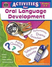 Cover of: Activities For Oral Language Development